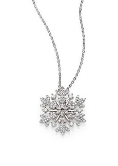 Adriana Orsini Pavé Sterling Silver Snowflake Pendant Necklace