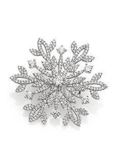 Adriana Orsini Pavé Sterling Silver Snowflake Pin