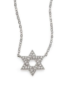 Adriana Orsini Pavé Sterling Silver Star Of David Necklace
