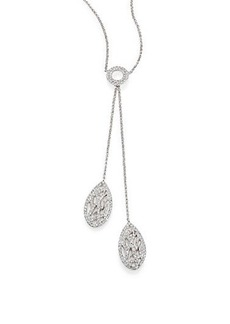Adriana Orsini Pave Crystal Branch Lariat Necklace