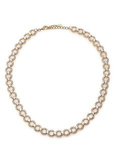 Adriana Orsini Pavé Crystal Circle Link Necklace