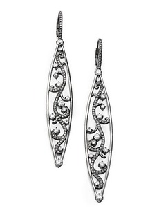Adriana Orsini Pave Crystal Vine Earrings