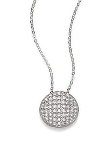 Adriana Orsini Pavé Sterling Silver Disc Pendant Necklace