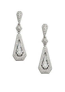Adriana Orsini Pave Linear Framed Drop Earrings