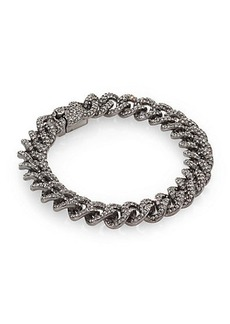 Adriana Orsini Pavé Crystal Small Chain Bracelet/Gunmetal