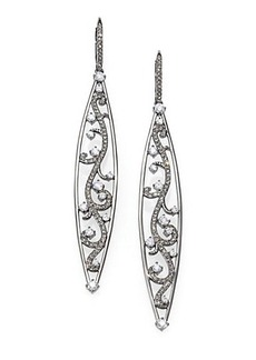 Adriana Orsini Pave Vine Drop Earrings