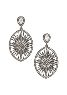 Adriana Orsini Radiance Crystal Sun Drop Earrings
