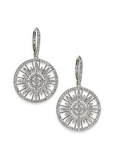 Adriana Orsini Radiance Pavé Crystal Circular Drop Earrings