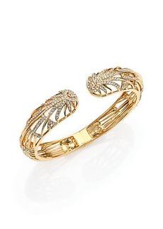 Adriana Orsini Radiance Pavé Crystal Double-Starburst Bracelet/Goldtone