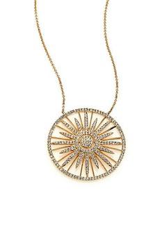 Adriana Orsini Radiance Pavé Crystal Pendant Necklace/Goldtone