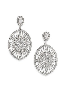 Adriana Orsini Radiance Pavé Oval Drop Earrings/Silvertone