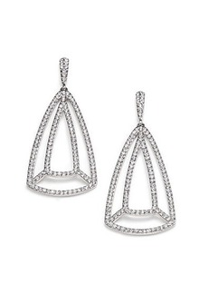 Adriana Orsini Roxy Pavé Crystal Drop Earrings