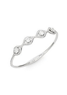 Adriana Orsini Sparkle Four-Stone Bangle Bracelet