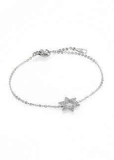 Adriana Orsini Star of David Pavé & Sterling Silver Bracelet