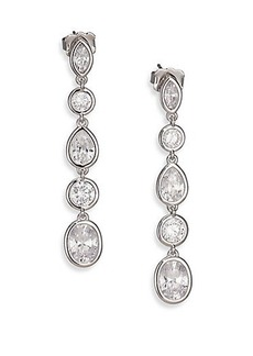 Adriana Orsini Sterling Silver Multi-Shape Linear Earrings