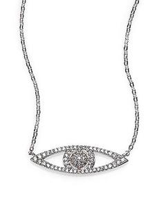 Adriana Orsini Sterling Silver Pavé Evil Eye Necklace