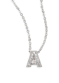 Adriana Orsini Sterling Silver Pavé Initial Pendant Necklace