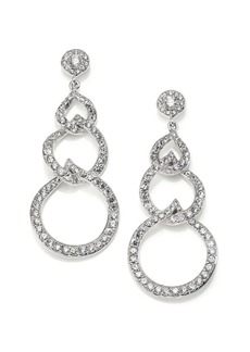 Adriana Orsini Sterling Silver Pavé Link Drop Earrings