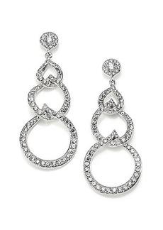Adriana Orsini Sterling Silver Pavé Link Drop Earrings