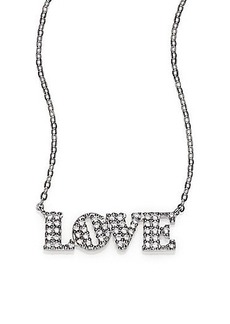 Adriana Orsini Sterling Silver Pavé Love Necklace