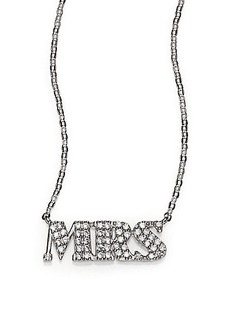 Adriana Orsini Sterling Silver Pavé Mrs Necklace