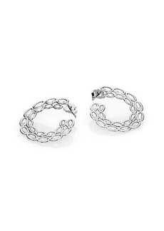 Adriana Orsini Sterling Silver Scales Hoop Earrings/0.95""