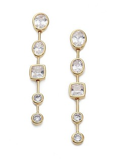 Adriana Orsini Sway Mixed Bezel Long Drop Earrings