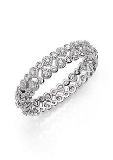 Adriana Orsini Teardrop Bangle Bracelet/Silvertone