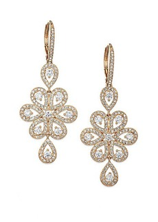 Adriana Orsini Teardrop Flower Earrings