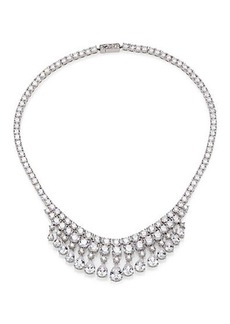 Adriana Orsini Teardrop Fringe Collar Necklace