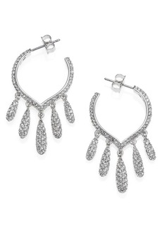 Adriana Orsini Teardrop Fringe Hoop Earrings