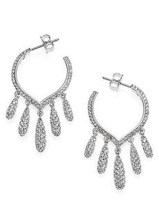 Adriana Orsini Teardrop Fringe Hoop Earrings