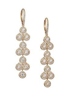 Adriana Orsini Teardrop Mosaic Long Earrings/Goldtone
