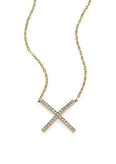 Adriana Orsini Twiggy Pavé X Pendant Necklace