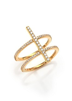 Adriana Orsini Twiggy T Bar Ring