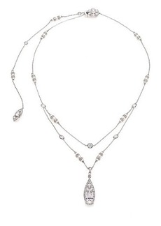 Adriana Orsini Wistera Pavé Crystal & Faux Pearl Layered Y Necklace