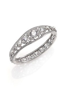Adriana Orsini Wisteria Pavé Crystal & Faux Pearl Bangle Bracelet