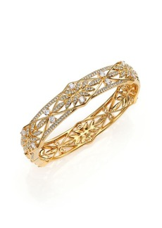 Adriana Orsini Wisteria Pavé Crystal Bangle Bracelet