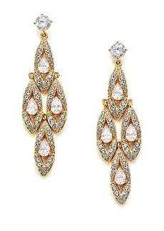 Adriana Orsini Wisteria Pavé Crystal Chandelier Earrings