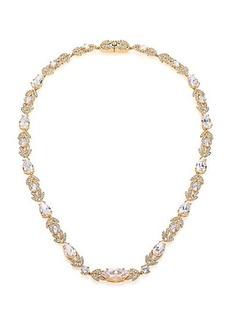 Adriana Orsini Wisteria Pavé Crystal Necklace/Goldtone