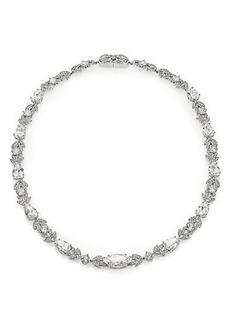 Adriana Orsini Wisteria Pavé Crystal Necklace/Silvertone