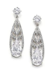 Adriana Orsini Wisteria Pavé Crystal Teardrop Earrings