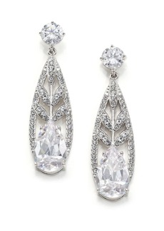 Adriana Orsini Wisteria Pavé Crystal Teardrop Earrings