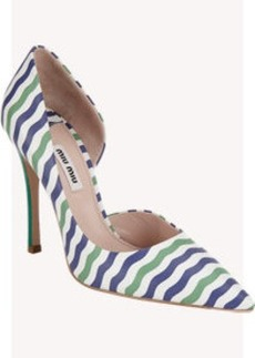 Miu Miu Pointed-Toe Half d'Orsay Pumps
