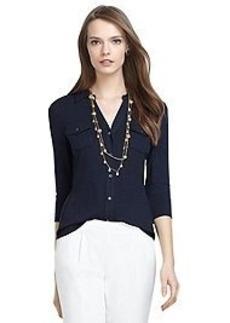 Three-Quarter Sleeve Jersey Top
