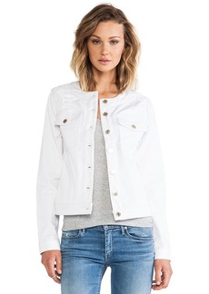 7 For All Mankind Button Front Jacket in White