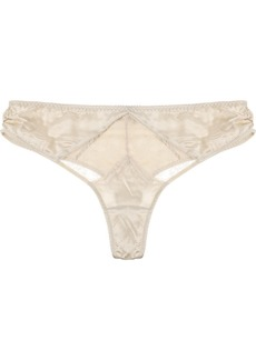 Stella McCartney Josephine Marrying mid-rise satin thong