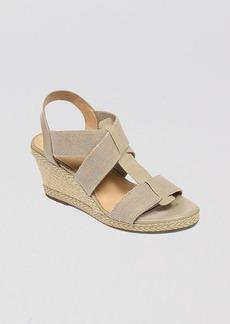 Lucky Brand Open Toe Platform Wedge Espadrilles - Kalenna
