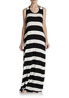 Calvin Klein Swim Striped Maxi Dress Coverup