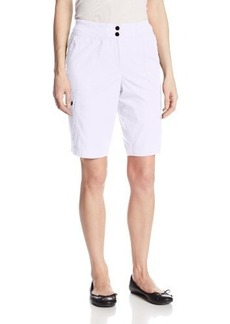 Jones New York Women's Cargo Short with Rib Trim